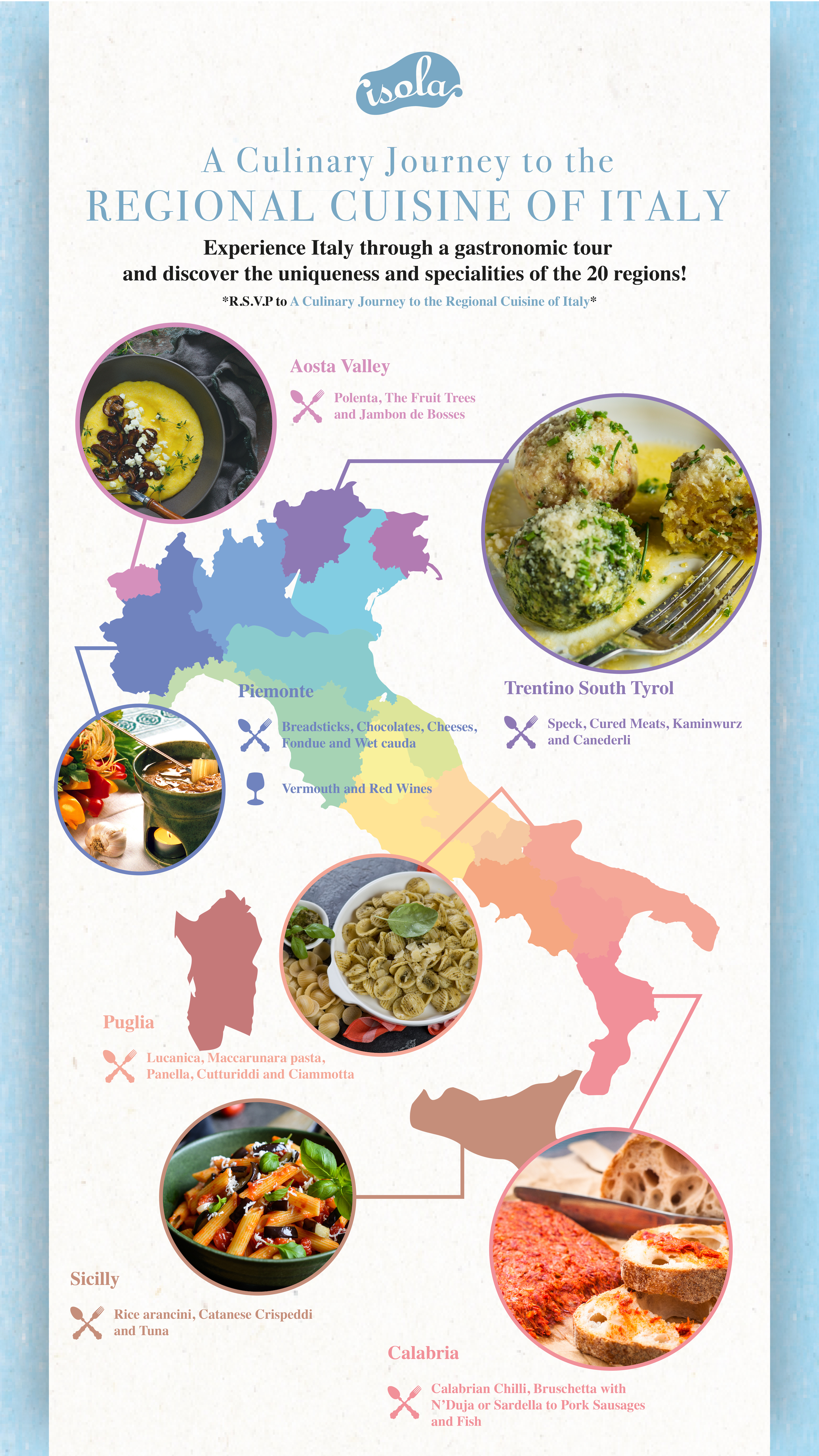 A Culinary Journey to the Regional Cuisine of Italy @ Isola